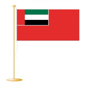 Tafelvlag Verenigde Arabische Emiraten afm. 10x15cm