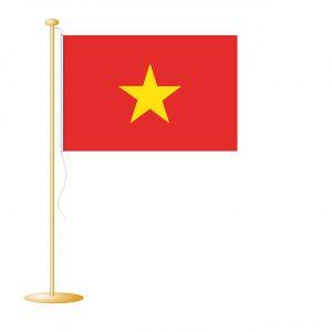 Tafelvlag Vietnam afm. 10x15cm