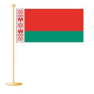Tafelvlag Wit-Rusland (Belarus) afm. 10x15cm