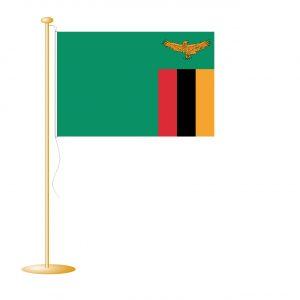 Tafelvlag Zambia afm. 10x15cm