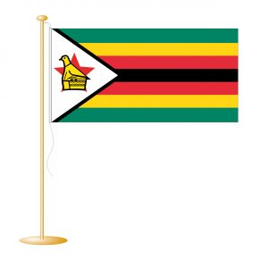 Tafelvlag Zimbabwe afm. 10x15cm