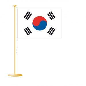 Tafelvlag Zuid-Korea afm. 10x15cm