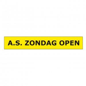 Spandoek Zondag Open afm. 80x500cm