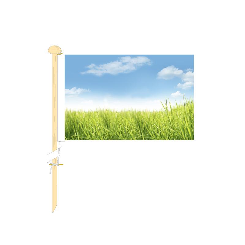 Bedrukte tafelvlag 10x15cm