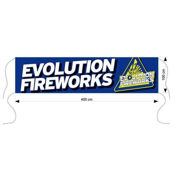 Spandoek Evolution vuurwerk