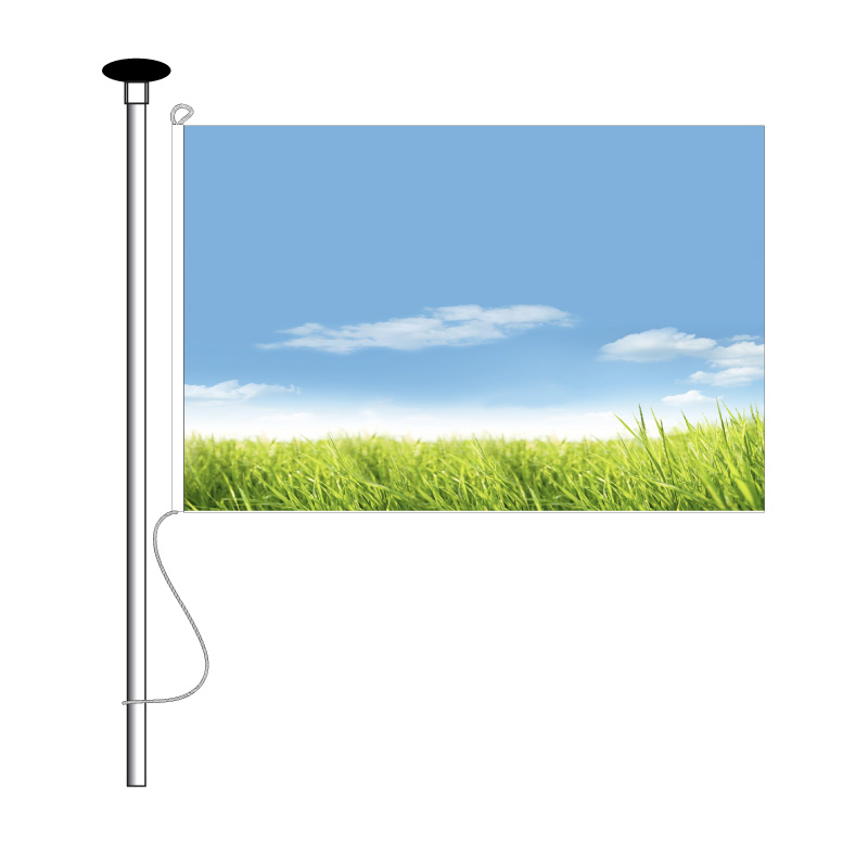 Hijsvlag / Mastvlag afm.120x180cm - 5 meter mast