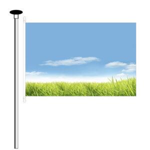 Hijsvlag / Mastvlag afm. 200x300cm - 7 meter mast of hoger