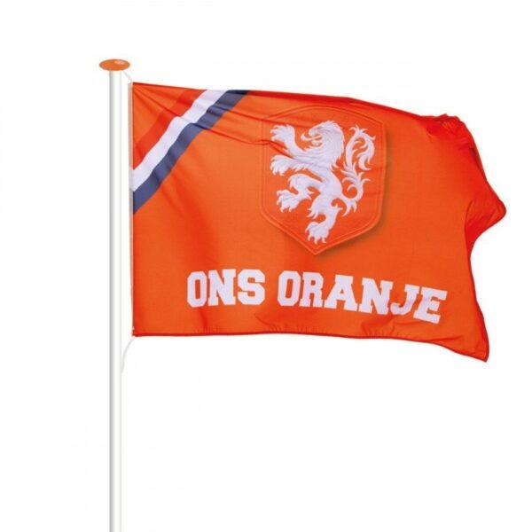 De officiële KNVB vlag Ons Oranje