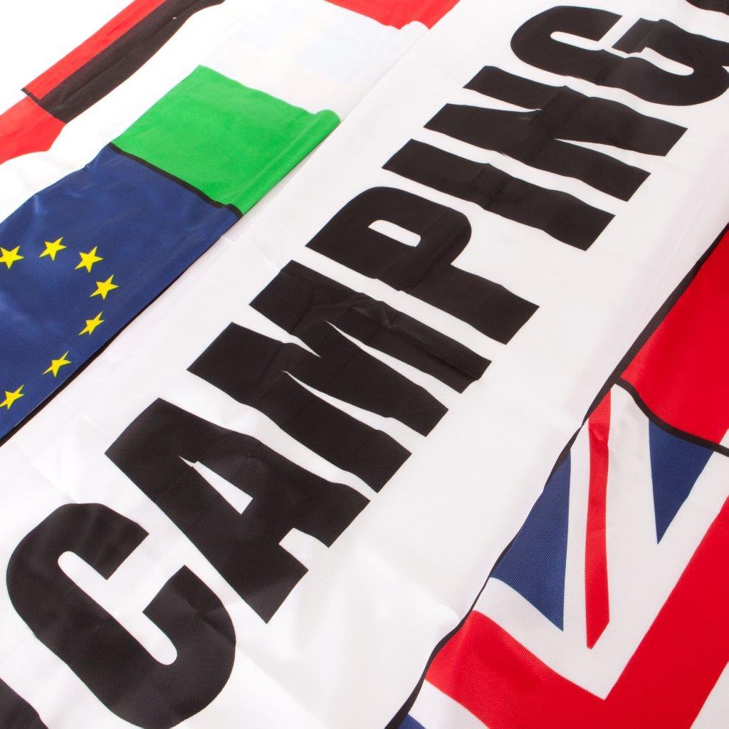 Meerlanden vlag Camping afm. 300x100cm