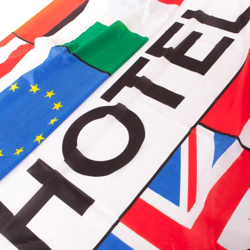 Meerlanden vlag Hotel afm. 300x100cm