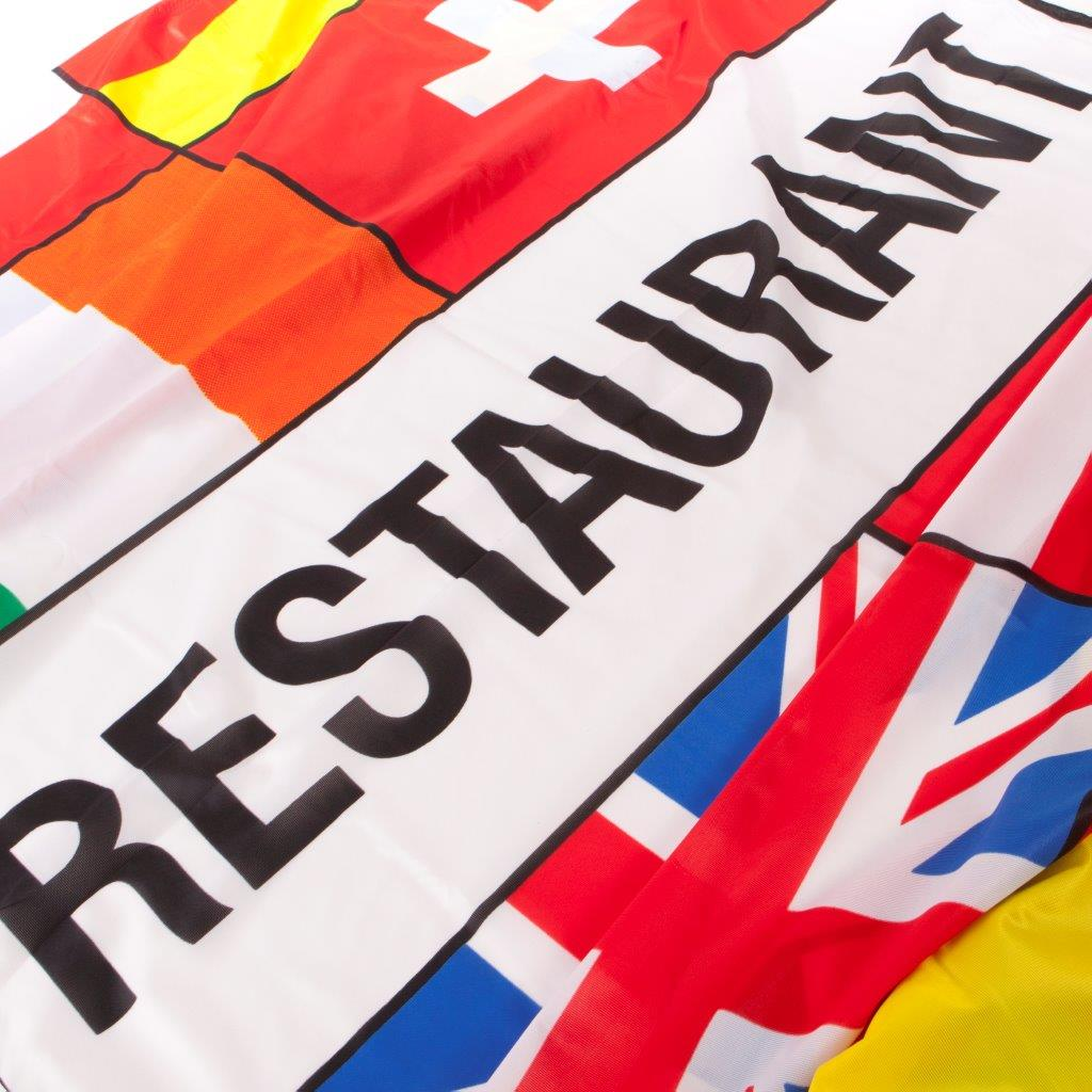 Meerlanden vlag Restaurant afm. 300x100cm