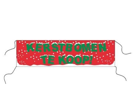 Spandoek Kerstbomen afm. 80x300cm